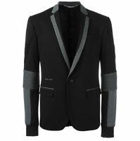 Philipp Plein Men's Black Melton Suit Jacket Sz 52 $1,480 NEW