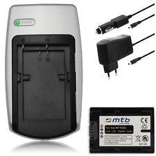 Chargeur + Batterie NP-FV50 pour Sony DCR-PJ5 / DCR-SR15, SR20, SR21, SR58, SR68