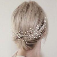 Crystal Tiara Hair Pageants Pearl Headband Crown Bridal Wedding Bride Rhinestone