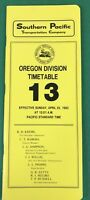 SOUTHERN PACIFIC Northern Region Timetable, Railroad Train, # 13, APR 25 1983