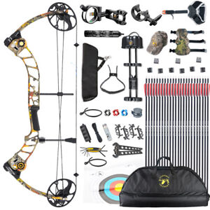 """2020 Topoint T1 19-30"""" COMPOUND BOW & ARROW HUNTING TARGET ARCHERY 15-70LBS"""