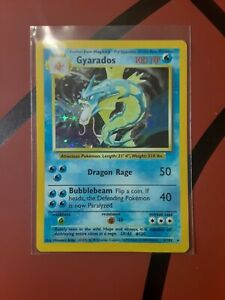 Gyarados 6/102 Base Set Holo Pokemon NEVER PLAYED!