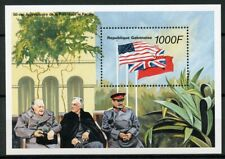 Gabon 1996 MNH WWII WW2 VJ Day Peace in Pacific 1v S/S Churchill Stalin Stamps
