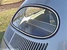 vintage Vw Volkswagen bug split oval window right green sunvisor 57 56 55 54 53