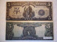1899 $5 Silver Certificate Indian Chief Running Antelope TYVEK WALLET