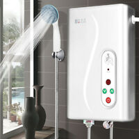 220V Electric Hot Water Heater Tankless Instant Shower Caravan Camping System
