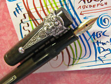 Waterman 52 Flex Nib Sterling Silver BACCHUS Clip Fountain Pen FLexible BCHR vtg