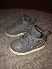 Nike Toddler Boys Grey High-Top Jordan Sneaker (Size 5c)