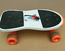 Mini Skateboard 39cm Short Micro Board Orange Good Condition Scateboard Used