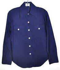 Lady Archdale Superba Vintage 1960's Navy Blue Button Down Shirt Sz 12 Euc