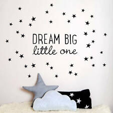 Dream Big Little One Wall Art Decal Home Decor Stickers Removable Stickers Vinyl
