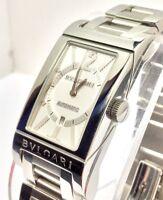 BVLGARI Rettangolo Unisex Stainless Steel Watch