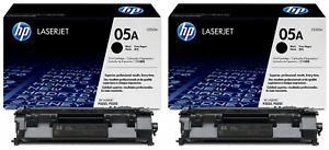 Genuine HP CE505D (05A) Black Twin Pack Toner Cartridges   FREE 🚚 DELIVERY