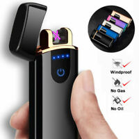 Electric Double Aach Pulse Plasma Lighter Flameless Metal Cigarette USB Gift