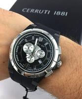 OROLOGIO CERRUTI CT100791X01 WATCH Black Chrono SWISS  47MM sport gomma rubber