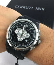 OROLOGIO CERRUTI CT100791X01 WATCH Black Chrono SWISS  47MM sport gomma rubber