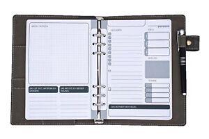 Ringbucheinlagen für FILOFAX  A5 Tagesplan To-Do Daily 6-fach Lochung 75 Blatt