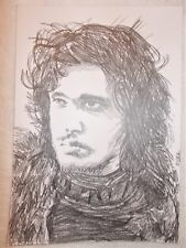 A4 art graphite croquis dessin Jon Snow Kit Harrington Game of Thrones un