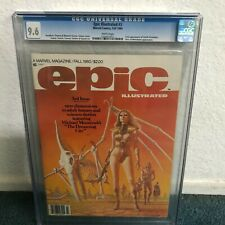 Epic Illustrated #3 CGC 9.6 White Pages 1st app Dreadstar