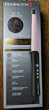 REMINGTON Pro 0.5-1 Pearl Ceramic Conical Curling Wand 10 Settings Black/Pink