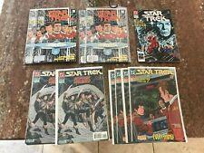 STAR TREK COMICS issue 1 X 4 NEWSSTAND 1989 DC SERIES TO 54 ANNUAL 1 1985 2 3