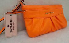 Juicy Couture Orange JC 700 Ruched Wristlet Wallet Clutch