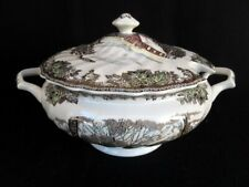 Johnson Brothers The Friendly Village Lidded Soup Tureen School House/Sugar Mapl