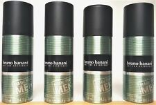 Bruno Banani Deo Spray Deodorant Made for Men 4 x 150 ml  (EUR 3,32/100 ml)
