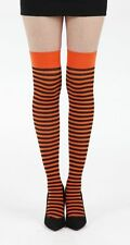 Pamela Mann  Carousel Stripe Over The Knee Socks  Flo Orange, Young and Cool
