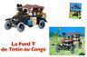en voiture Tintin n5 la ford t tintin au congo + fascicule 1/24 moulinsart neuf