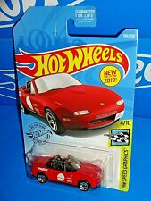 Hot Wheels New For 2019 Speed Graphics #184 '91 Mazda MX-5 Miata Red MAZDASPEED