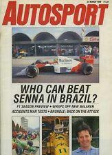 Autosport March 23rd 1989 * F1 & F3 saison Previews *