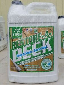 Restore-A-Deck Wood Stain for Decks, Fences, & Wood Siding (1 Gallon, Natural)