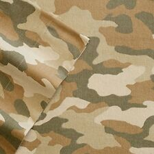 Heavyweight Flannel Sheets King Size Camo Green Tan Army Warm Winter Bedding