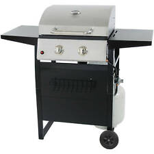 GAS GRILL 2 BURNER BBQ Backyard Patio Stainless Steel Barbecue Outdoor Cooking
