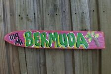 BERMUDA - TROPICAL DESTINATION ARROW DIRECTIONAL POOL ISLAND POINTER SIGN