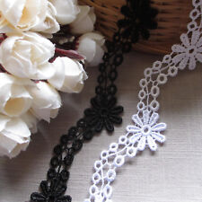 3 metres White Floral Daisy 30mm Guipure Lace Trimming