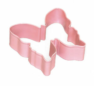 Eddingtons Pink Butterfly Cookie Cutter - Pastry and Biscuit Cutter Metal 9cm