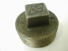 1-1/2 Inch BSP Malleable Black Iron Plug | British Standard Pipe Thread Fitting