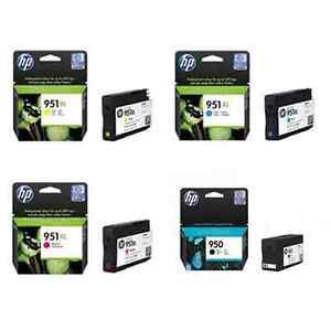 GENUINE HP 950 BLACK & 951XL CYAN MAGENTA YELLOW 8100 8600 251D 276DW FAST POST