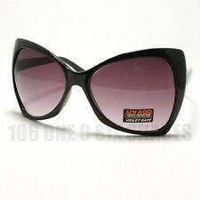 BOW Shaped Sunglasses for Womens Designer's Oversized Ribbon Fashion BLACK New
