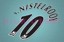 Manchester United v.Nistelrooy #10 PREMIER LEAGUE 97-06 Black Name/Number Set