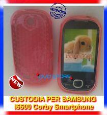 Pellicola + custodia cover case EXA ROSA per Samsung I5500 Galaxy 5