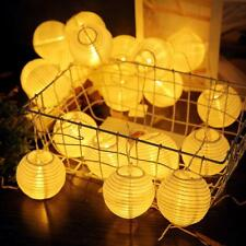 20leds Lantern Ball Solar String Light Fairy Lamp Outdoor Christmas Party Decor