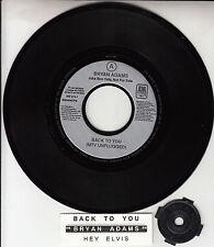 "BRYAN ADAMS Back To You & Hey Elvis 7"" 45 rpm record + juke box strip RARE!"