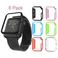 [6 Pack] for Apple Watch Series 4/3/2/1 Hard Case 40/44/38/42mm Bumper Cover