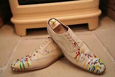 Rare Paul Smith Hand Made in Italy Homme Peinture éclaboussures Chaussures Taille UK 11
