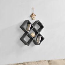 [en.casa]® Estante para pared estante para colgar moderna decorativa gris