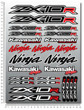 ZX-10R Ninja racing motorcycle decals stickers set fairing zx10r Laminated Red