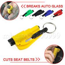 Safety Mini Keychain Car Emergency Rescue Glass Breaker Seat Belt Cutter Tool
